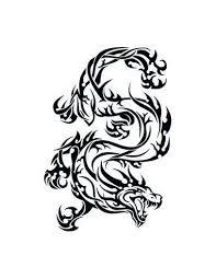 Divoký Drak Tribal Nalepovací Tetování