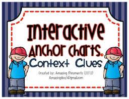 Context Clues Anchor Chart Interactive Anchor Charts Context Clues