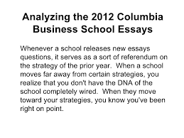 high school personal statement essay examples modest proposal  analyzing the columbia business school essays analyzing the columbia business school essays amerasiaconsultingcom