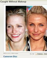 celebs without makeup before and after cute that even her before