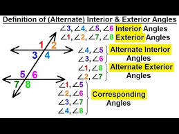 geometry basic terminology 8 of 34 definition of alternate interior and exterior angles