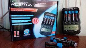 Зарядка и аккумуляторы <b>ROBITON</b>. Распаковка и тэст. - YouTube
