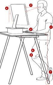 standing desk posture. Exellent Desk Standing Desk Posture On A