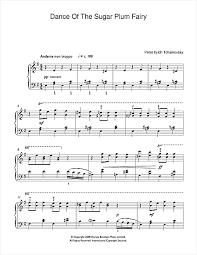 dance of the sugar plum fairy sheet music dance of the sugar plum fairy from the nutcracker sheet music by