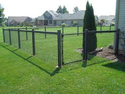 painting a chain link fence yard