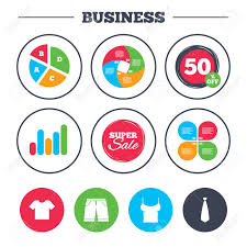 Business Pie Chart Growth Graph Clothes Icons T Shirt And