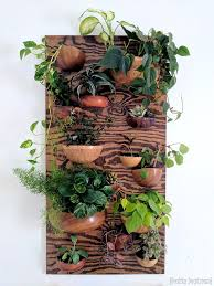 living wall planter made from wooden bowls reality daydream