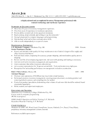 Best Ideas Of Inventory Management Resume Samples Magnificent