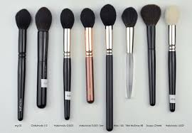 wayne goss brushes. i love little pointy brushes, find them very useful specially with face powder products that contain several pans, like this guerlain, or the rmk mix wayne goss brushes #