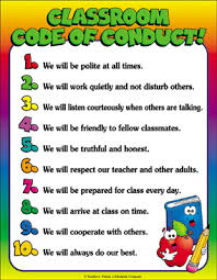 Conduct Chart Printable Classroom Code Of Conduct Chart Printable Charts And Signs