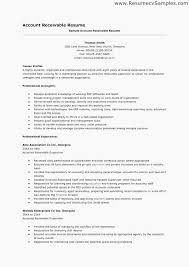 Accounts Receivable Resume Template Amazing Sample Accounts Receivable Resume Accounts Receivable Clerk Resume