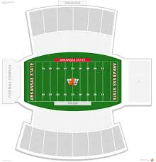 Centennial Bank Stadium Arkansas State Seating Guide