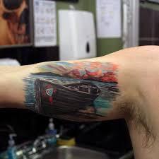90 Západ Slunce Tetování Pro Muže Vyblednutí Daylight Sky Vzory