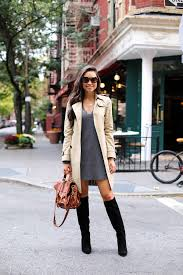 kat tanita shows us how the classic beige trench is the ultimate match to a v