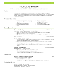 Gallery Of Reverse Chronological Resume Sample Formal Resume