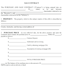 Sales Contract Custom Buyer Seller Contract Template Receipt R Purchase Of Car Auto Used