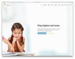 Kids School Website Template 30 Best Free And Premium Education Website Templates 2019