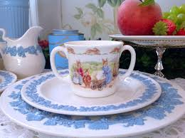 annie crazy antiquities british royal doulton bunnykins made ceramic mug double handle gifts
