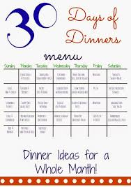 family meals month 30 days of dinners another month of meal planning your best diy