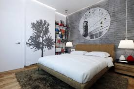Graffiti Wall Art For Cool Teen Bedroom Design Ideas With Elegant Table  Lamp And Bedside Table Ideas
