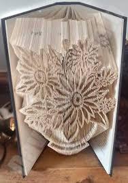 Book Folding Patterns Adorable Vase Of Flowers Cut Fold Book Folding Pattern Cut Fold Book Art