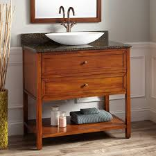 Antique Bathroom Cabinets 36 Robertson Vessel Sink Vanity Medium Antique Cherry Bathroom