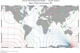 Magnetic Declination Chart Marine Navigation Courses Compass Navigation
