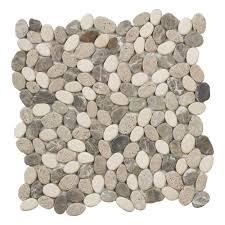 jeffrey court emperador river rocks 11 5 in x 11 5 in x 10 mm marble