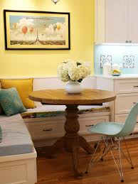Breakfast Nook Bench Shaker Style Cabinets Dining Room Farmhouse With Corner Banquette