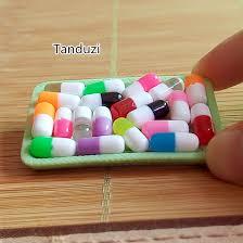 Tanduzi <b>Wholesale 100PCS Mix Color</b> Mini Resin Capsule Pill ...