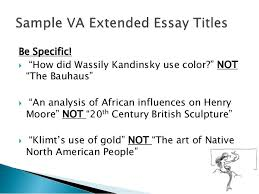 visual arts extended essay