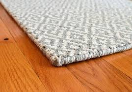 grey white cotton loom hooked rug hook and rugs canada