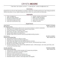 Server Resume Objective How To Write A Resume Examples Server Resume ...
