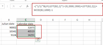 How To Convert Julian Date To A Calendar Date In Excel