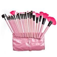 24pcs professional makeup brushes set cosmetic make up brush kit pink makeup tool pink leather case