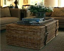 wicker coffee table ottoman round