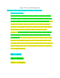 014 Template Ideas Annotated Bibliography Apa Sample Entry2 Page 001