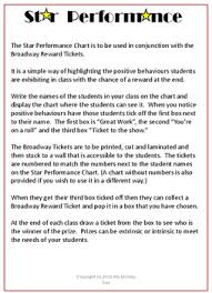 Performance Chart For Students Behaviour Management Performance Chart Broadway Theme By