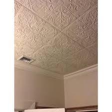 A La Maison Ceilings Spanish Silver 16 Ft X 16 Ft Foam