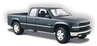 Maisto Chevrolet Silverado Pickup Truck (Black) Diecast Model Truck ...