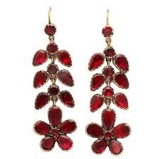 georgian garnet chandelier earrings signify affection for