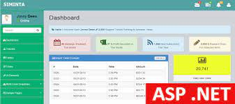 free asp net admin template siminta mini