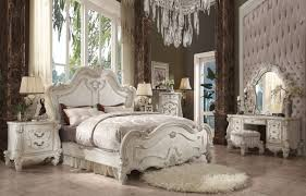 white bedroom furniture king. Acme Furniture Versailles Master Bedroom Set White King