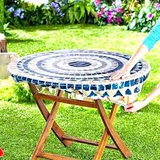 round table covers with elastic fitted plastic cloth outdoor cover disposable tablecloths picnic round table covers