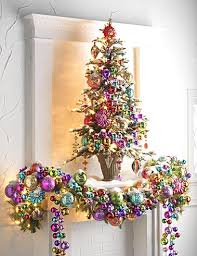 Pink & Colorful Christmas - using the mirror behind is a great idea | by RAZ