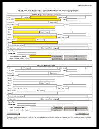 Sample Budget Worksheet Unique G48 RR SeniorKey Person Profile Expanded Form