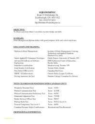 Sample Resume For Hotel Management Fresher With Puter Science Resume