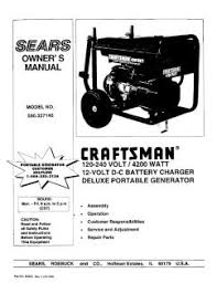 craftsman watt volt dc battery charger deluxe manual location