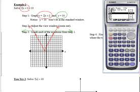 notes solving absolute value equations graphically
