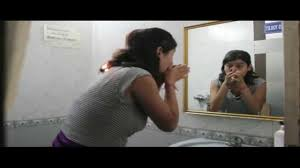 Ghost in washroom's mirror - YouTube